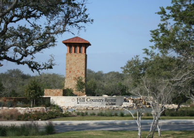 Hill Country Retreat Entry Tower