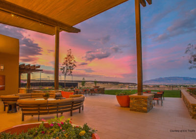 Gathering patio sunset view