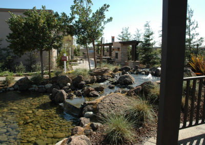 Model Park pond and landscape