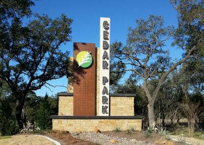 Cedar Park Entry Gateway Signs/TxDOT 1431 Beautification