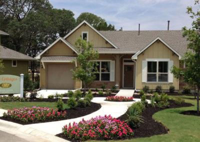 The Cottages Model Home landscape design