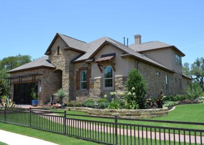 The Estates Model Home landscape design