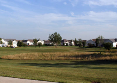 Sun City Huntley homes along the fairway