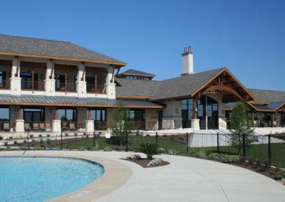 Outdoor pool deck landscape design