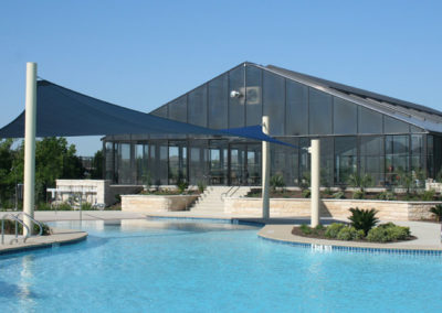 Outdoor and indoor pools