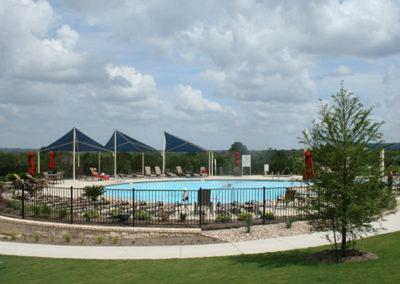 Residents enjoying the pool