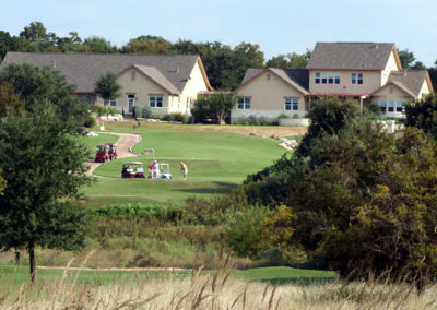 Homes along the golf course