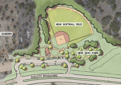 Softball Field and Dog Park Complex site plan