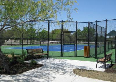 Tennis sitting area