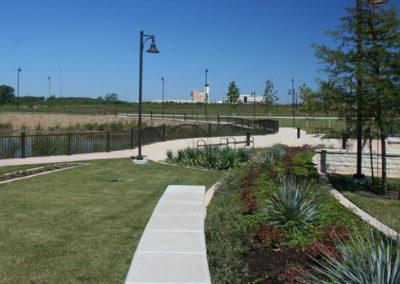 Study plaza landscape and design elements