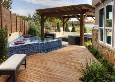 Model Home backyard oasis