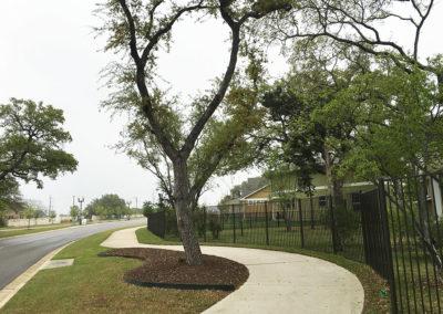 Northwoods sidewalk and trails