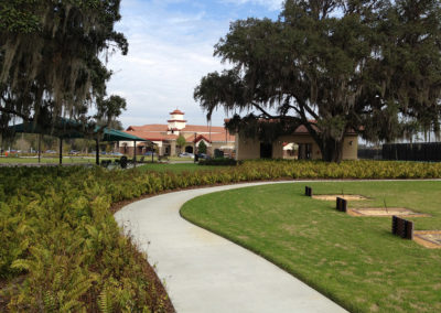 Trail to amenity center