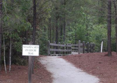 Sidewalk trail