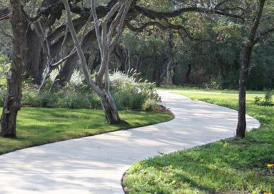 Winding sidewalk