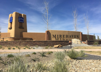 Del Webb Mirehaven entry sign monument