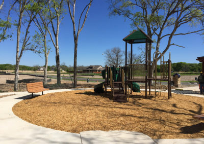 Playground with open space