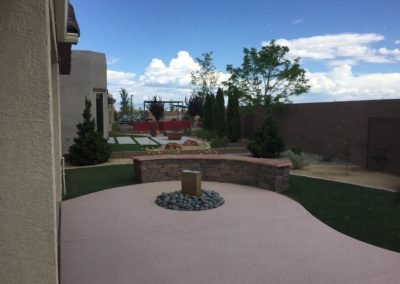 Mirehaven Model Home patio
