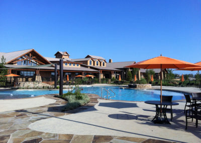 Amenity Center with resort pool and surround