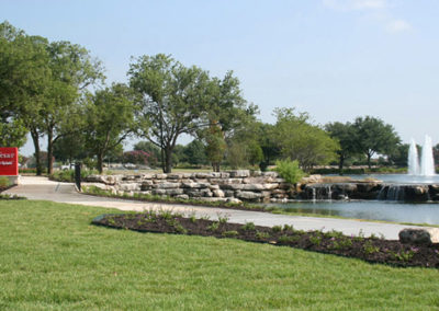 Sun City Texas entry feature pond
